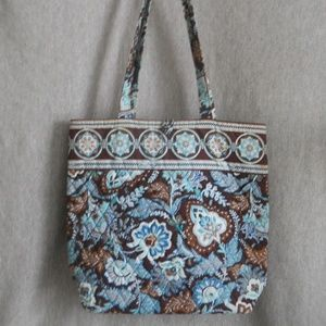 Vera Bradley Retired Java Blue paisley TOTE